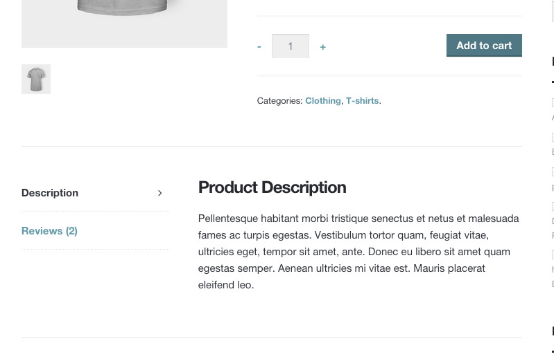 5e3b8645533 Removing product description and additional information titles in  WooCommerce product tabs